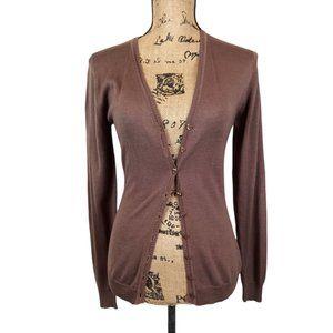 La Galleria La Rue Silk Cardigan Sweater-N976